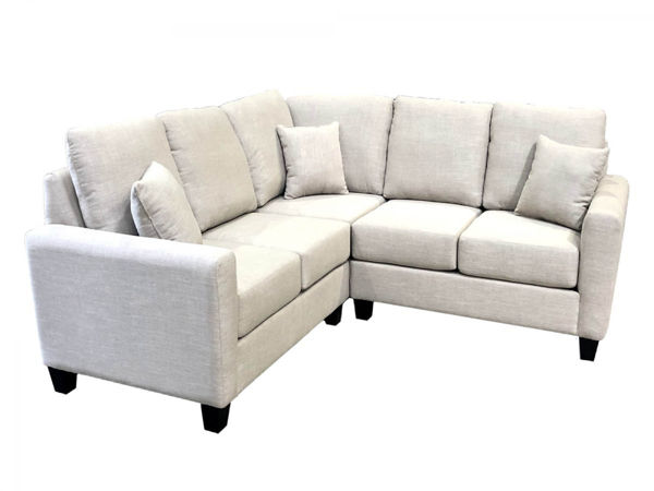 Picture of Courtenay 3 Pc. Grey Fabric Sectional
