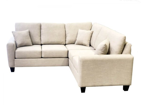 Picture of Courtenay 3 Pc. Taupe Fabric Sectional