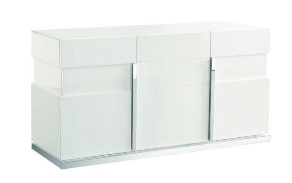 Picture of Canova White High Gloss Three Door Buffet
