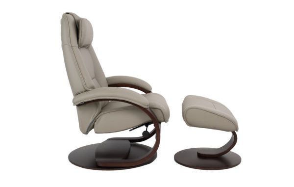 Picture of Small Grey Admiral Classic Comfort Chair with Ottoman