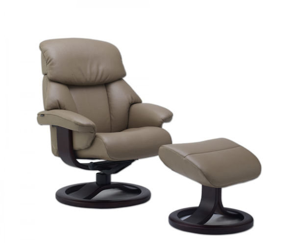 Picture of Large Tan Alfa Classic Comfort Chair with Ottoman