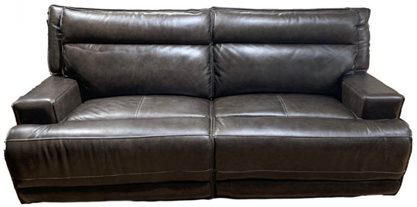 Picture of Contemporary Lether Electric Motion Sofa with Track Arms and USB Port