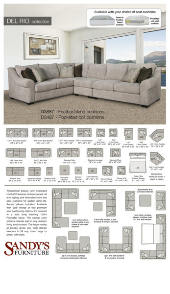 Picture of Del Rio Left Arm Sofa Sectional Piece