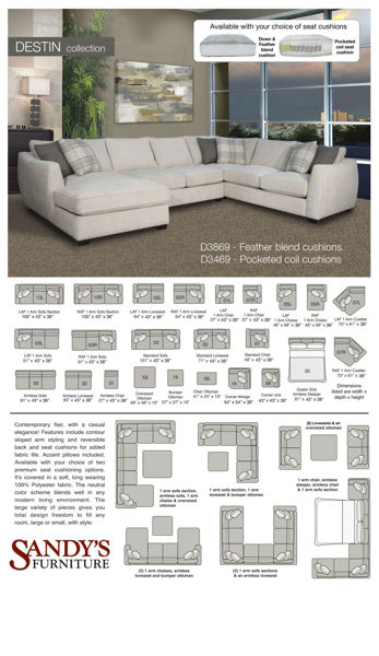Picture of Destin Armless Sectional Piece