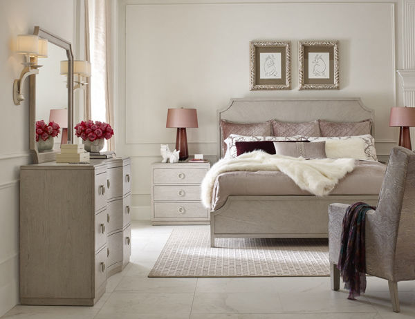 Picture of Cinema By Rachael Ray Shadow Grey Finish King Panel Bed