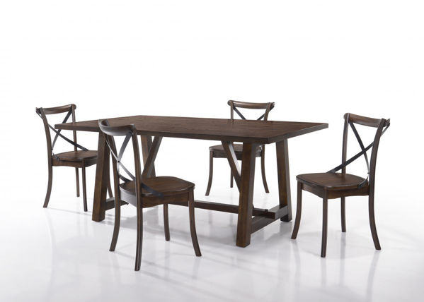 Picture of Lindsay Rectangle Wood Trestle Dining Table