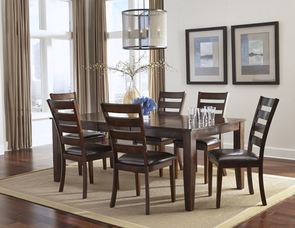 Picture of Kona Wood Dining Table with Leaf