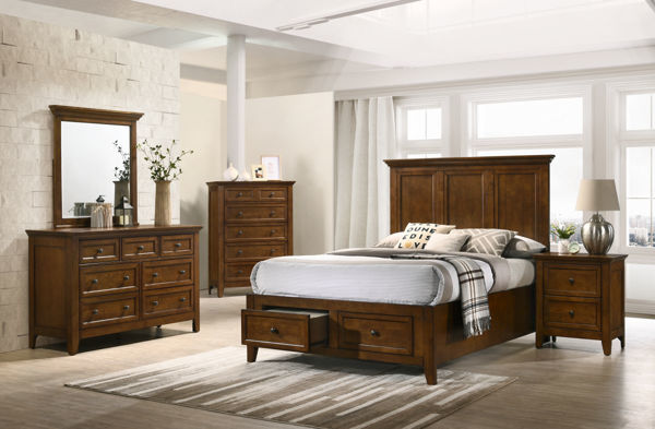 Picture of San Mateo Tuscan Brown Dresser