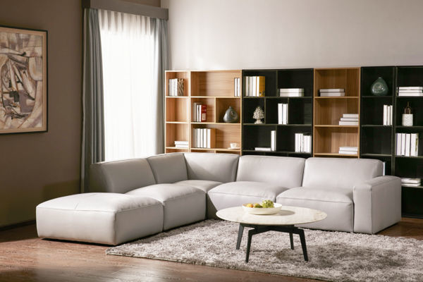 Picture of Oatmeal Fabric Armless Sectional Piece