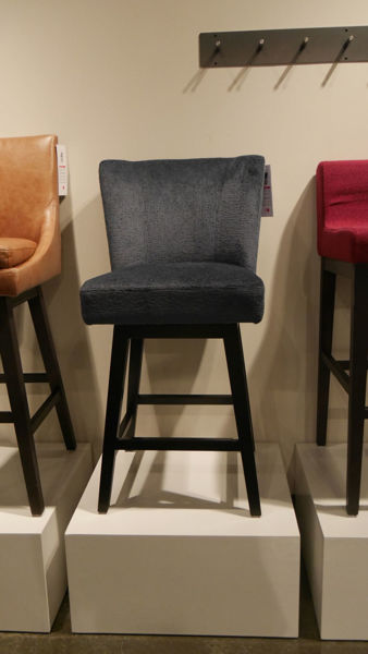 Picture of Grey Linnen Counter Stool