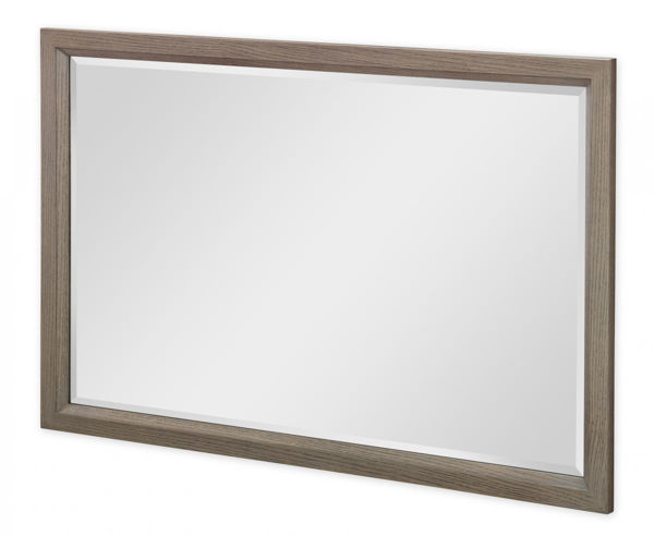Picture of High Line By Rachael Ray Greige Finish Beveled Landscape Mirror