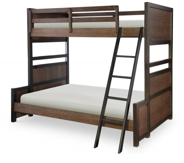 Picture of Fulton County Tawny Brown Finish Twin over Full Bunk Bed