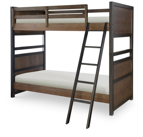 Picture of Fulton County Tawny Brown Finish Twin over Twin Bunk Bed
