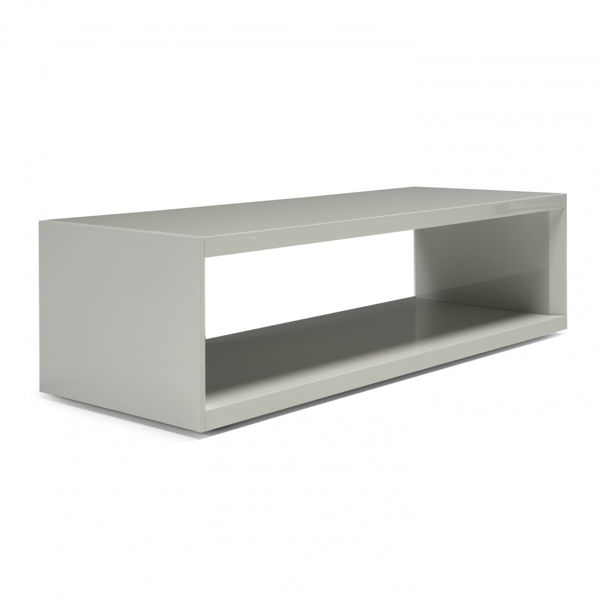 Picture of Natuzizi Italia Armonica Laquered White  Bridge Occasional Table