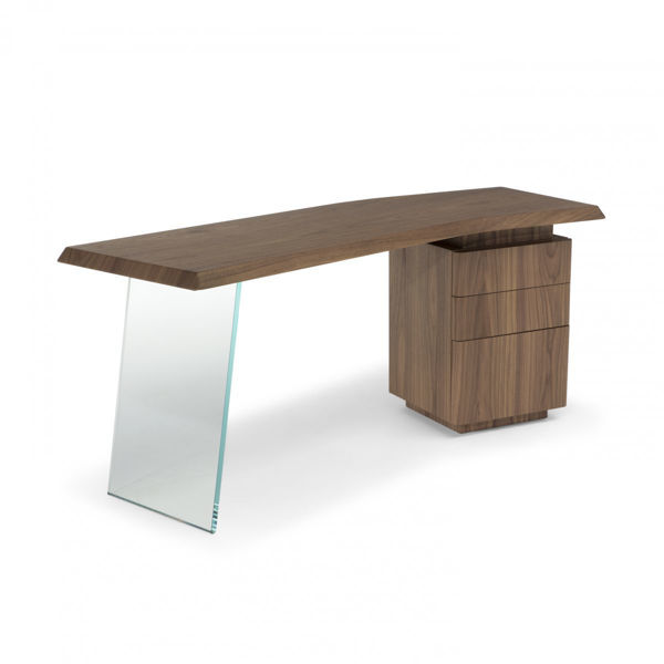 Picture of Natuzzi Italia Phantom Desk in smoked oak finish