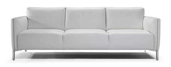 Picture of Natuzzi Italia Tratto, white leather sofa