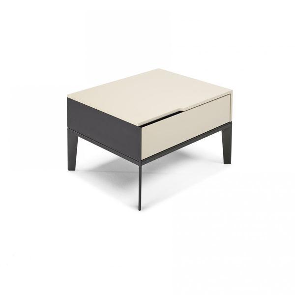Picture of Natuzzi Italia Mondrian left nightstand, matt white