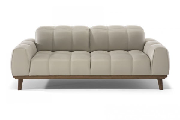 Picture of Natuzzi Editions C141 White Leather Loveseat