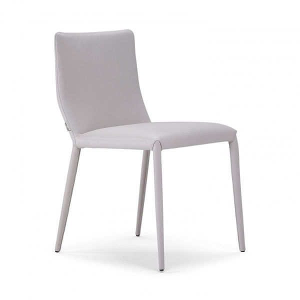 Picture of Natuzzi Italia Sigma Cream Leather Dining chair