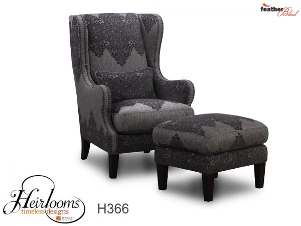 Picture of Wing Back Leather Accent Chair