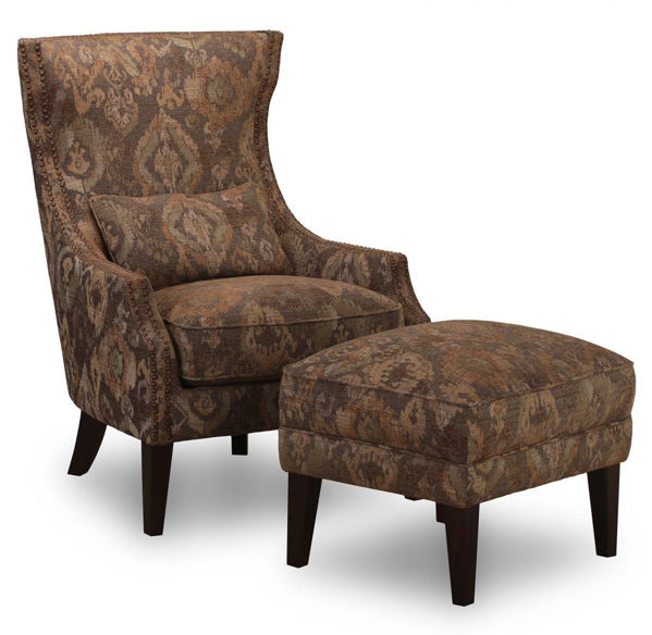 Picture of Wing Back Fabric Accent Chair