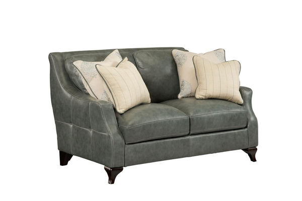 Picture of Transitional Leather Loveseat