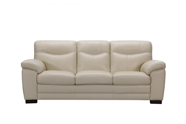 Picture of Ivory Leather Sofa