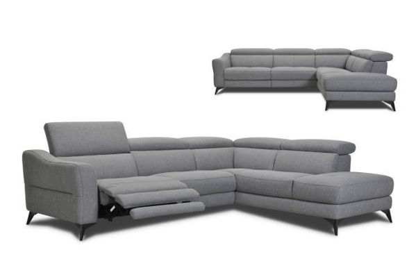Picture of Fabric Sectional with Dual Power in Head and Footrest