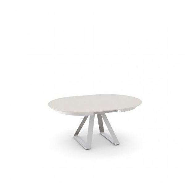 Picture of Atlante Round White Dining Table