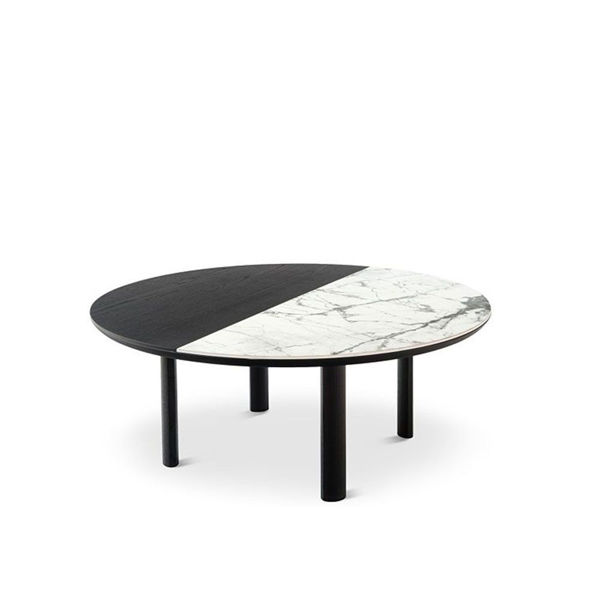 Picture of Bam Round Black and White Cocktail Table