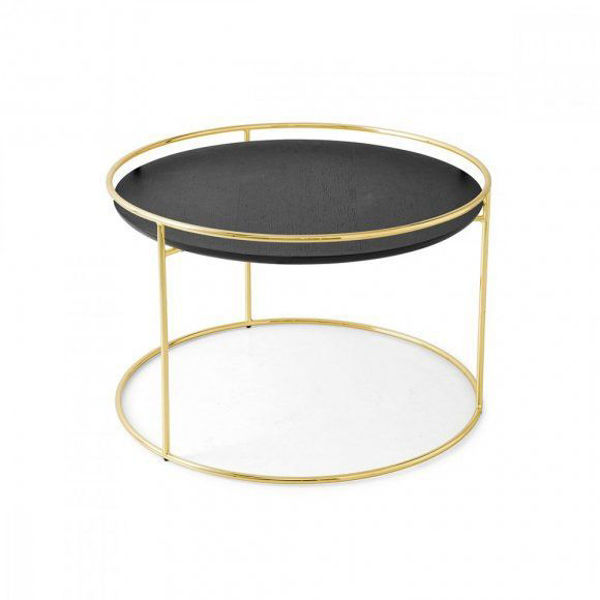 Picture of Attolo side Table with Golden Onyx Top